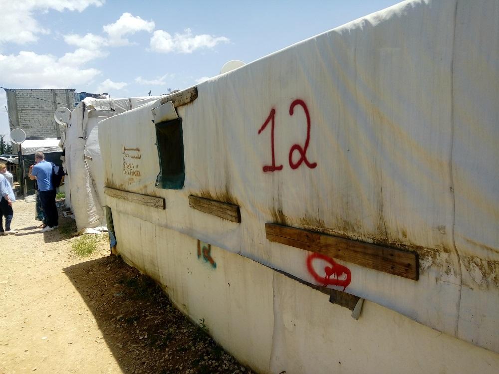 Один из домов, в которых располагаются беженцы